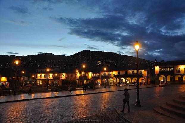 Abenstimmung in Cusco