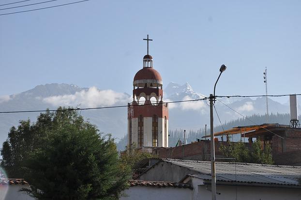 Stadtansicht von Huaraz, Peru