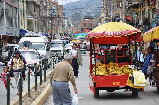 Straßenszene in Huaraz