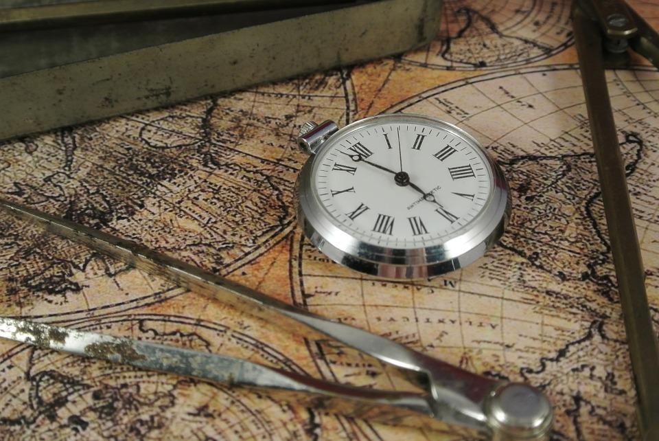 zirkel und Landkarte