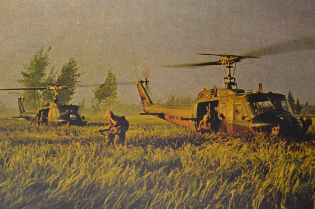 Szene aus dem Vietnamkrieg