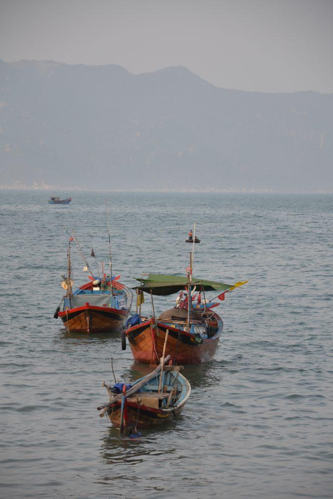 Zwei Boot in Nha Trang, Vietnam