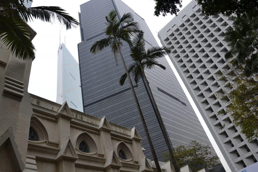 Hochhausblick in Hongkong