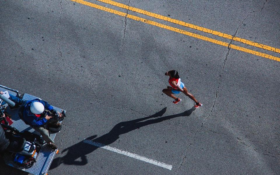 Marathon Läuferin