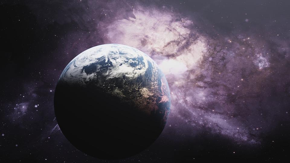 Die Erde aus der Sicht des Weltraums