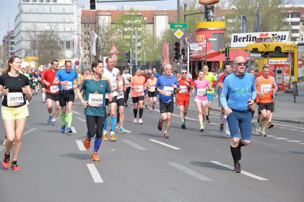 Läufer beim Berliner Halbmarathon