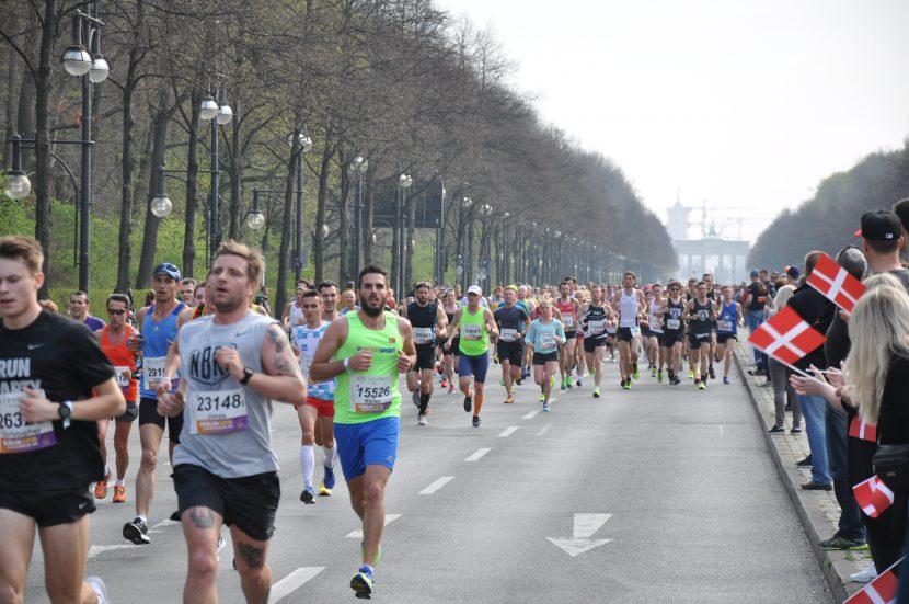 Läufer beim Berlin Marathon